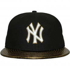 Casquette Fitted New Era - 59Fifty MLB Metallic Slither - New York Yankees - Navy/Gold