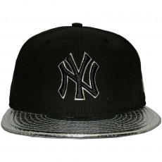 Casquette Fitted New Era - 59Fifty MLB Metallic Slither - New York Yankees - Black/Silver