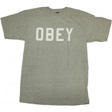 T-shirt Obey - Collegiate Obey - Basic Tee - Heather Grey