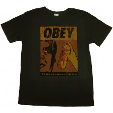 T-shirt Obey - No Runs, No Drips, No Errors - Light Pgt Tee - Dusty Black