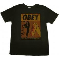 T-shirt Obey - No Runs, No Drips, No Errors - Light Pgt Tee - Dusty Black