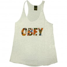 Débardeur Femme Obey - Obey Collage - Track Tank - Heather Ash