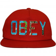 Casquette Strapback Obey - Wharf Hat - Dark Red
