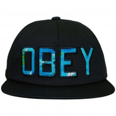 Casquette Strapback Obey - Wharf Hat - Navy