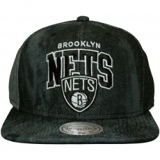 Casquette Snapback Mitchell And Ness - NBA Black All Over Dyed Denim - Brooklyn Nets - Black
