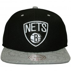 Casquette Snapback Mitchell And Ness - NBA Paisley Print - Brooklyn Nets - Black / Grey