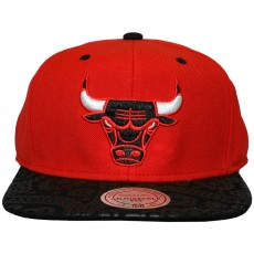 Casquette Snapback Mitchell And Ness - NBA Paisley Print - Chicago Bulls - Red / Black