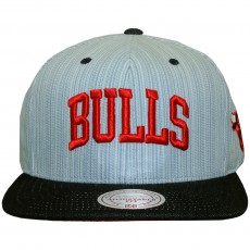 Casquette Snapback Mitchell And Ness - NBA Striped Denim Arch - Chicago Bulls - Blue / Navy