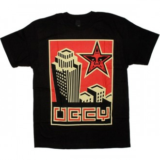 OBEY Basic T-shirt - Skyline - Black
