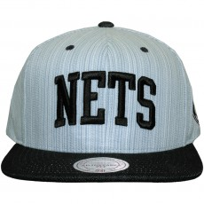 Casquette Snapback Mitchell And Ness - NBA Striped Denim Arch - Brooklyn Nets - Blue / Navy