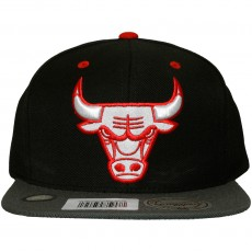 Casquette Snapback Mitchell And Ness - NBA XL Reflective 2Tone - Chicago Bulls - Black / Grey