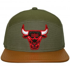 Casquette 6 Panel Hybrid Mitchell And Ness - NBA Canvas Horizon - Chicago Bulls - Green / Brown