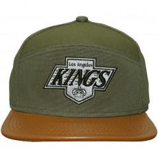 Casquette 6 Panel Hybrid Mitchell And Ness - NHL Canvas Horizon - Los Angeles Kings - Green / Brown
