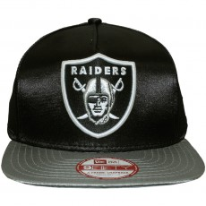 Casquette Snapback New Era - 9Fifty NFL Satin - Oakland Raiders - Black / Grey