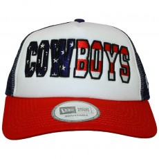 Casquette Trucker New Era - Adjustable NFL Americana Trucker - Dallas Cowboys - Blue / White / Red