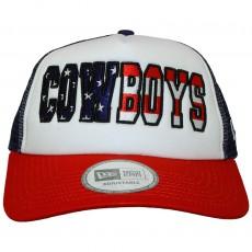 Casquette Trucker New Era - Adjustable NFL Americana Trucker - Dallas Cowboys - Blue / White / Red