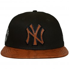 Casquette Snapback New Era - 9Fifty MLB FR Leather Visor - New York Yankees - Navy / Brown