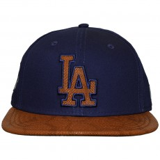 Casquette Snapback New Era - 9Fifty MLB FR Leather Visor - Los Angeles Dodgers - Blue / Brown