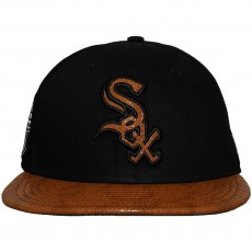 Casquette Snapback New Era - 9Fifty MLB FR Leather Visor - Chicago White Sox - Black / Brown