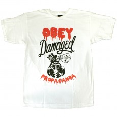 T-shirt Obey - Damaged Penguin - Basic Tee - White