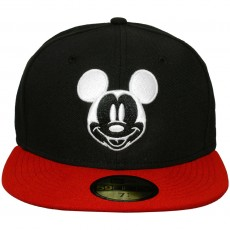 Casquette Fitted New Era x Disney - 59Fifty Basic Mickey - Black / Red