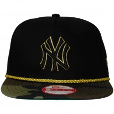 Casquette Snapback New Era - 9Fifty MLB Hidden Metallic - New York Yankees - Black / Woodcamo