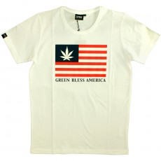 T-shirt Space Monkeys - Bless Crew Neck Tee - White
