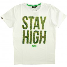 T-shirt Space Monkeys - High Crew Neck Tee - White