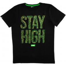 T-shirt Space Monkeys - High Crew Neck Tee - Black