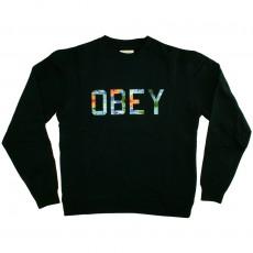 Sweat Shirt Obey - Wharf Crew - Crew Neck Fleece - Navy
