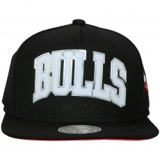 Casquette Snapback Mitchell & Ness - NBA Blacked Out Sonic - Chicago Bulls - Black