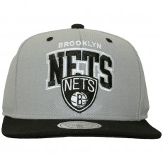Casquette Snapback Mitchell & Ness - NBA Double Up - Brooklyn Nets - Grey