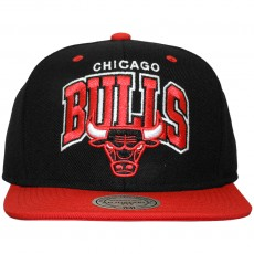 Casquette Snapback Mitchell & Ness - NBA Double Up - Chicago Bulls - Black