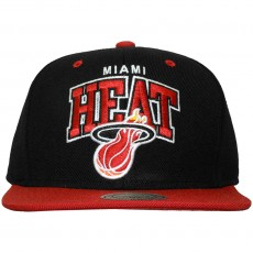 Casquette Snapback Mitchell & Ness - NBA Double Up - Miami Heat - Black
