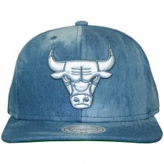 Casquette Snapback Mitchell & Ness - NBA Blue Dyed Denim - Chicago Bulls - Blue