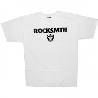 ROCKSMITH T-shirt - Black & Silver Tee - White