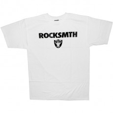 ROCKSMITH T-shirt - Black & Silver Tee - White