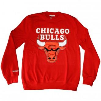 Sweat Shirt Mitchell And Ness - NBA Team Logo Crew - Chicago Bulls - Scarlet 09c1ba8726bd