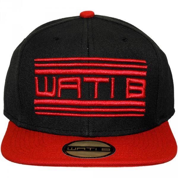 casquette snapback wati b basic logo black red. Black Bedroom Furniture Sets. Home Design Ideas