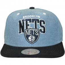 Casquette Snapback Mitchell And Ness - NBA Chambray Arch - Brooklyn Nets - Blue