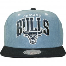 Casquette Snapback Mitchell And Ness - NBA Chambray Arch - Chicago Bulls - Blue