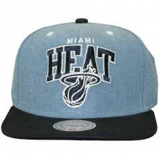 Casquette Snapback Mitchell And Ness - NBA Chambray Arch - Miami Heat - Blue