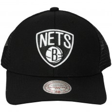 Casquette Trucker Mitchell And Ness - NBA White Logo Trucker - Brooklyn Nets - Black