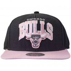 Casquette Snapback Mitchell And Ness - NBA Pastel Chino - Chicago Bulls - Black