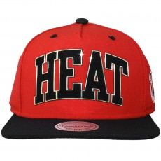 Casquette Snapback Mitchell And Ness - NBA Sonar Snapback - Miami Heat - Red