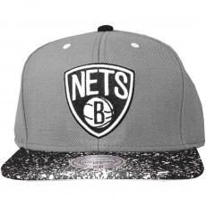 Casquette Snapback Mitchell And Ness - NBA Splatter 2 Tone Snapback - Brooklyn Nets - Grey