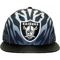 Casquette Strapback New Era - 9Fifty NFL Jungle Mash Up - Oakland Raiders - Grey / Black