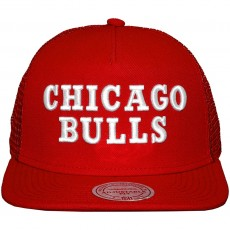 Casquette Trucker Mitchell And Ness - NBA Court - Chicago Bulls - Red