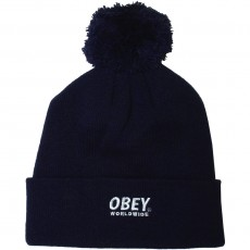 Bonnet Obey - Worldwide Pom Pom - Navy