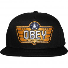 Casquette Snapback Obey - Wings - Black